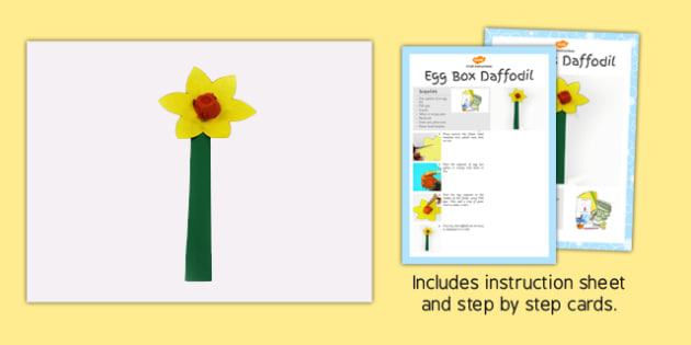 Egg Box Daffodil Craft Instructions - craft, instructions, box