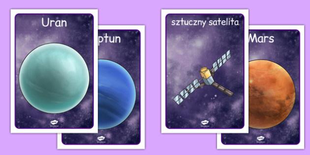 Plakaty Przestrzeń kosmiczna po polsku - geografia, planety