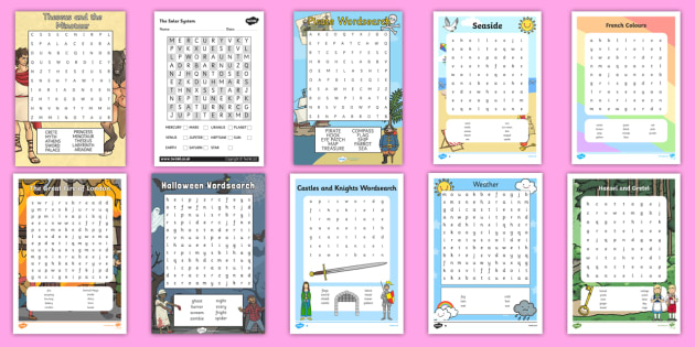 Wordsearch Resource Pack - Word Search, Ideas, Activities, Elderly Care, Care Homes, Activity co-ordinators, Support