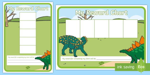 dinosaur five frame sticker reward charts early years