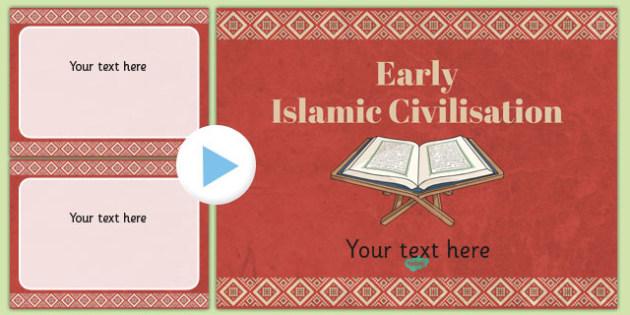 Early islamic themed powerpoint template islamic template toneelgroepblik Choice Image