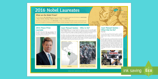 The 2016 Nobel Peace Prize Poster