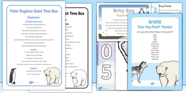 Polar Regions Quiet Time Box - Polar animals penguins polar bear, arctic, antarctic