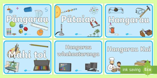 Ngā kaupapa Signs and Labels
