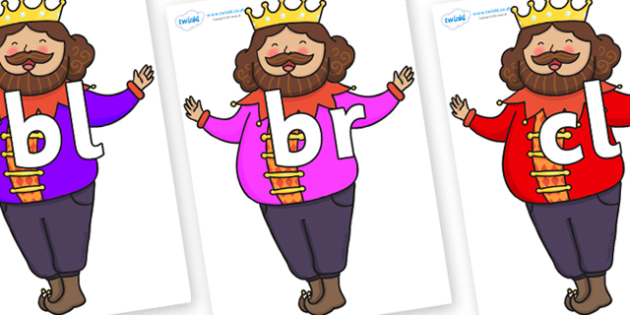 Initial Letter Blends on The Emperors New Clothes Emperor - Initial Letters, initial letter, letter blend, letter blends, consonant, consonants, digraph, trigraph, literacy, alphabet, letters, foundation stage literacy