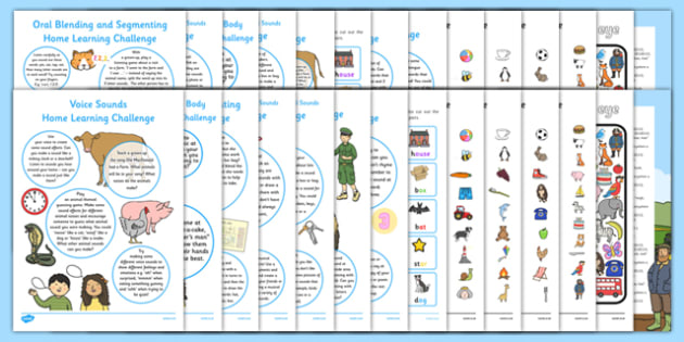 Phase 1 Home Learning Tasks - phase 1, phase one, phonics, home, learning, homework, activity, activities, parents, carers, dfe, letters and sounds