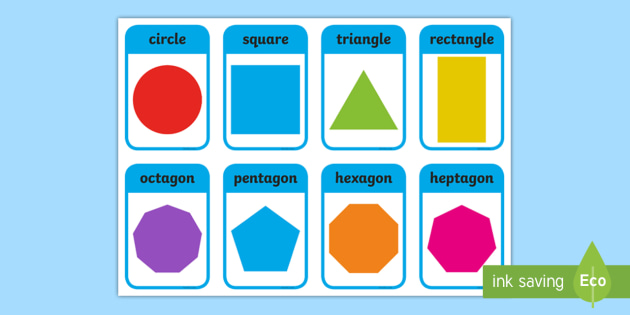 graphic relating to Free Printable Shape Flashcards identify 2D Condition Flashcards (inc. Form Names) - 2D Form names