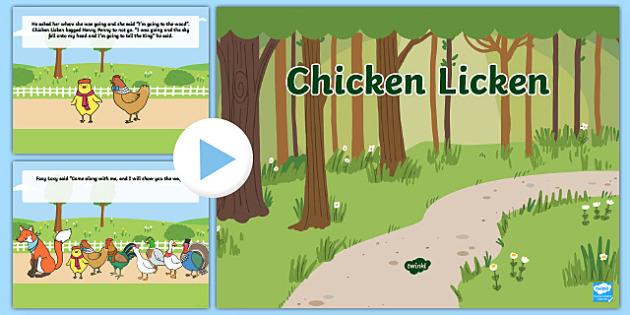Chicken Licken PowerPoint - stories, story book, story powerpoint