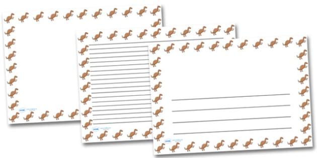 Iguanadon Landscape Page Borders- Landscape Page Borders - Page border, border, writing template, writing aid, writing frame, a4 border, template, templates, landscape