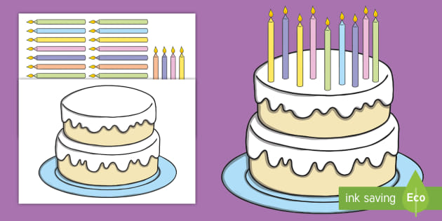 Outstanding Birthday Cake And Candle Cut Outs Teacher Made Funny Birthday Cards Online Sheoxdamsfinfo
