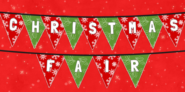 Christmas Fair Bunting - christmas, fair, bunting, fayre, christmas fayre, display