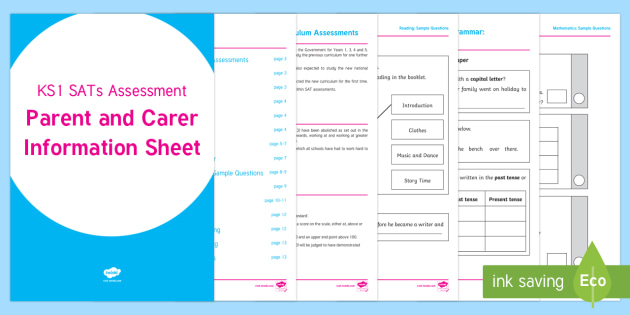 SATs Survival: 2017 KS1 SATs Assessment Parent and Carer Information Sheet - SATs Survival Materials Year 2, SATs, assessment, 2017, English, SPaG, GPS, grammar, punctuation, sp