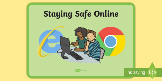staying safe online display poster staying safe online display