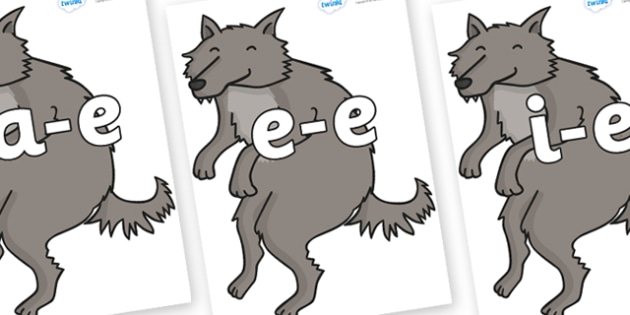 Modifying E Letters on Wolf - Modifying E, letters, modify, Phase 5, Phase five, alternative spellings for phonemes, DfES letters and Sounds