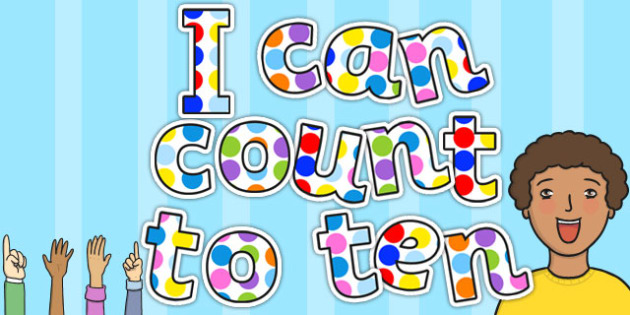 I Can Count to Ten Spotty Themed Display Lettering - display