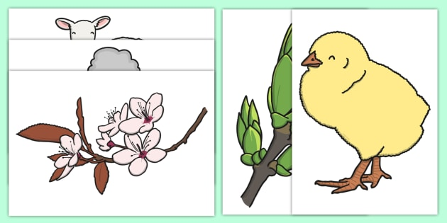 Spring Display Images Pack - display images, display pack, spring images, spring cut out images, cut-out, cutouts, cut-outs, bee, butterfly, flowers grass, lamb, rabbit, tree, spring themed, spring animals, spring minibeasts, spring items