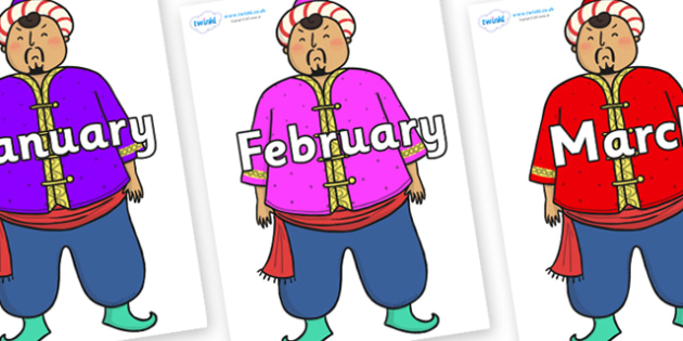 Months of the Year on Magician - Months of the Year, Months poster, Months display, display, poster, frieze, Months, month, January, February, March, April, May, June, July, August, September