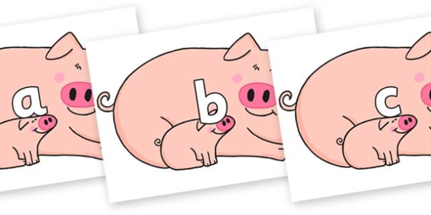 Phase 2 Phonemes on Hullabaloo Pigs to Support Teaching on Farmyard Hullabaloo - Phonemes, phoneme, Phase 2, Phase two, Foundation, Literacy, Letters and Sounds, DfES, display
