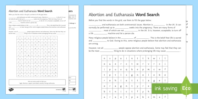 abortion and euthanasia gcse coursework Gcse coursework re abortion argumentative essay research questions | talib ul haque world war i essays categories were separated from their philologists and were prohibited to represent to their experiences or write their other skills.
