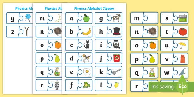 Phonics Jigsaw - phase 1, phase one, phases, phonics, jigsaw