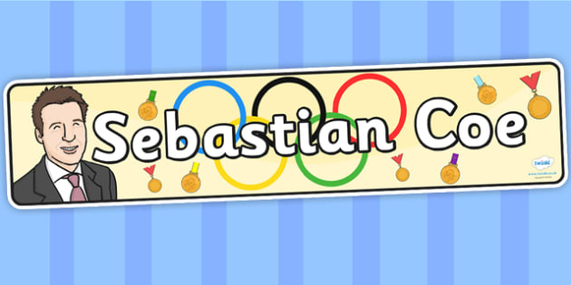 Sebastian Coe Display Banner - sebastian coe, display, banner, display banner, display header, themed banner, classroom banner, classroom display, header