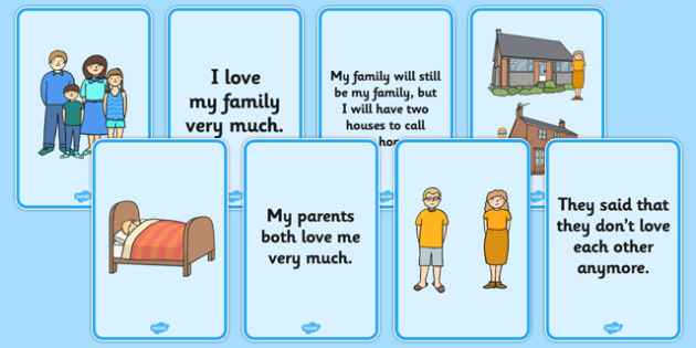 Social Situation: Parents Getting Divorced Splitting Up - social story, parents, divorce, split