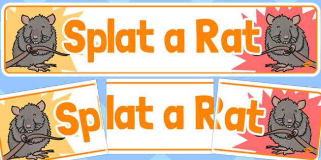 Splat a Rat Banner - splat a rat, banner, summer fair, fayre