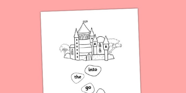 Phase 2 Tricky Word Stepping Stone Colouring Worksheet / Activity Sheet - tracing letters, phonemes, handwriting, letter formation, writing practice, foundation, letters, writing, learning to write, DFES letters and sounds, Phase 2, Phase 3, Phase tw