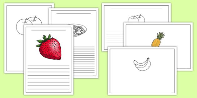 Fruit Salad Writing Frames - olivers fruit salad, fruit salad, writing frames
