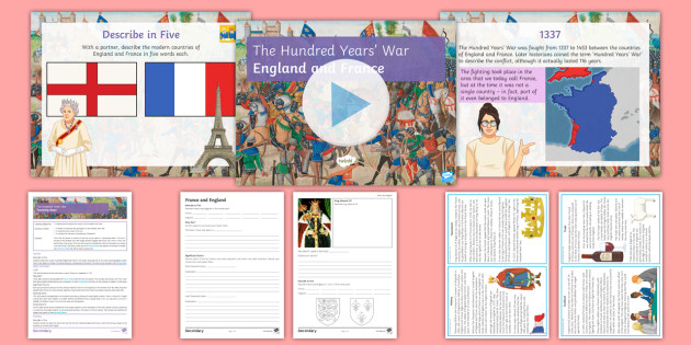 the participation of france and england in the hundred years war Introduction the hundred years' war is a term invented in the mid-19th century for the late medieval conflict between england and france, although the actual war lasted for.