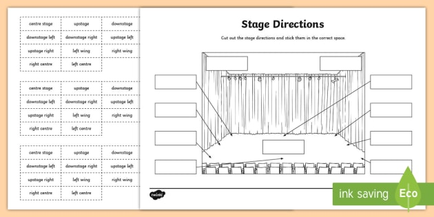 stage directions worksheet activity sheet roi drama. Black Bedroom Furniture Sets. Home Design Ideas
