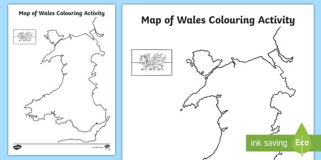Map of wales colouring activity saint david st david saint map of wales colouring activity saint david st david saint davids day gumiabroncs Gallery