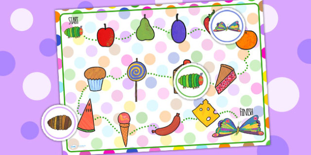 Boardgame to Support Teaching on The Very Hungry Caterpillar - the very hungry caterpillar, boardgame, games, activities, puzzle, classroom games, classroom activites