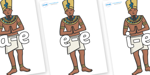 Modifying E Letters on Egyptian Priests - Modifying E, letters, modify, Phase 5, Phase five, alternative spellings for phonemes, DfES letters and Sounds