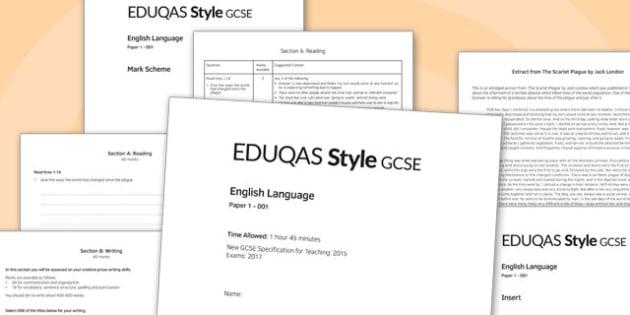 GCSE English Language Exam Paper 1 EDUQAS - gcse, english, language, exam, paper, eduqas