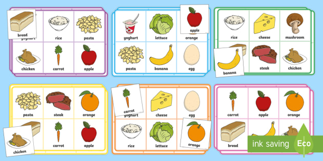 healthy eating food bingo bingo  game  activity  eating school days clip art free school days clip art with granddaughter