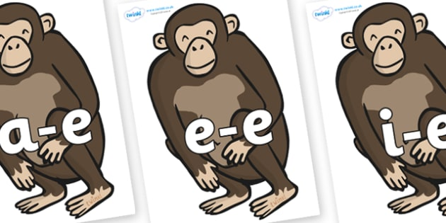 Modifying E Letters on Chimps - Modifying E, letters, modify, Phase 5, Phase five, alternative spellings for phonemes, DfES letters and Sounds