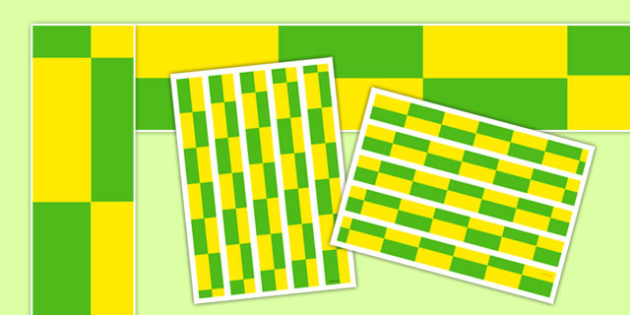 Ambulance Green and Yellow Check Display Borders - ambulance, green and yellow check, display border, display, borders