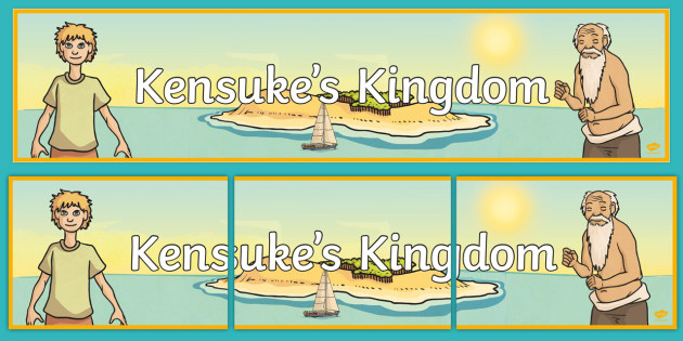 Kensuke's Kingdom Display Banner - header, stories, display, books