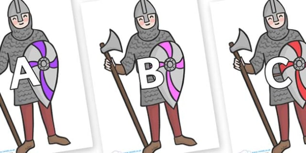 A-Z Alphabet on Soldiers - A-Z, A4, display, Alphabet frieze, Display letters, Letter posters, A-Z letters, Alphabet flashcards