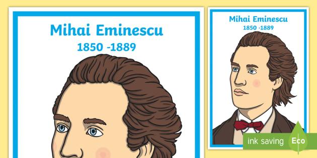Mihai Eminescu Planșă Cu Diferite Dimensiuni Eminescu