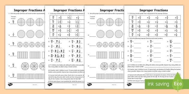 improper fractions worksheet  worksheet  math improper fractions  improper fractions worksheet  worksheet  math improper fractions mixed  numbers fraction conversions