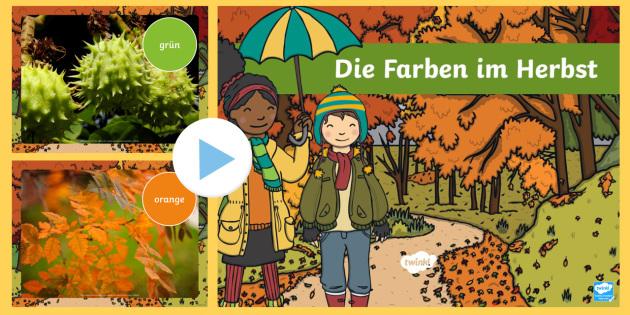 Autumn Colours Photo PowerPoint German - german, autumn, colours, photo, powerpoint, herbst die farben