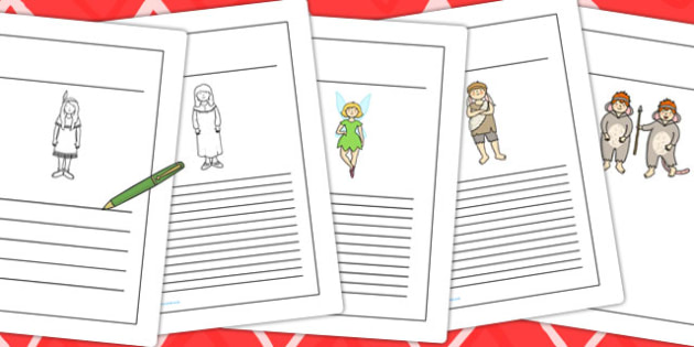 Peter Pan Writing Frames - writing, template, themed, topic
