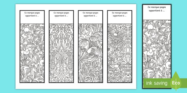 Marque Pages Motifs De Coloriages Anti Stress Arts Plastiques