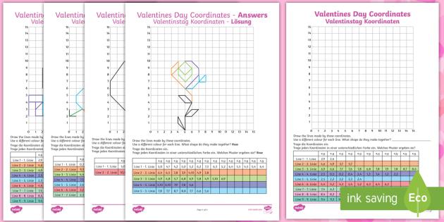 KS2 Valentines Day Coordinates Worksheet / Worksheets ...