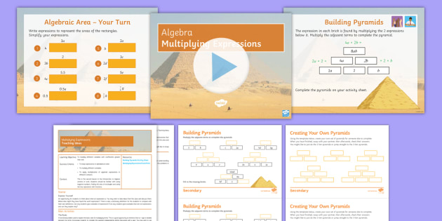 An Introduction to Algebra Lesson 2 Multiplying Expressions