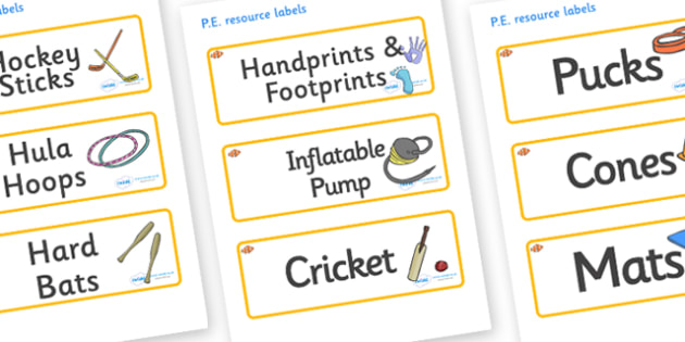 Clownfish Themed Editable PE Resource Labels - Themed PE label, PE equipment, PE, physical education, PE cupboard, PE, physical development, quoits, cones, bats, balls, Resource Label, Editable Labels, KS1 Labels, Foundation Labels, Foundation Stage