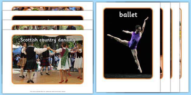 Dance Styles Display Photos - Physical development, eyfs, movement, actions, dancing, ballet, latin, breakdance