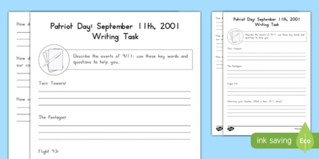 September 11th Activity Sheet, worksheet